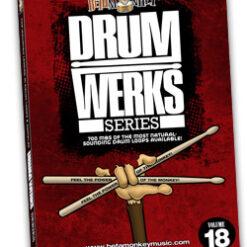 Drum Werks XVIII features Rock, Funk, Pop Grooves