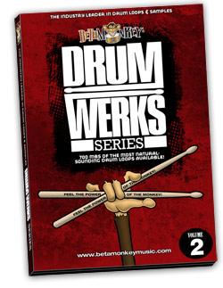 Drum Werks II Reloaded sample pack of Hard rock drum loops.
