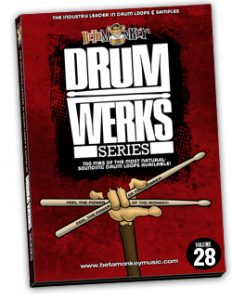 100% Live Rock Drum Loops - Studio Drum Tracks for Rock, Alt Rock, Classic Rock   Beta Monkey Music Drum Werks XXVIII