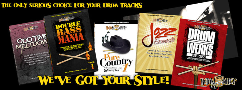 The Only Serious Choice for your drum tracks. Beta Monkey has got your style.