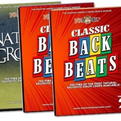 Vintage, retro drum samples with a traditional drum mix and sensibility.