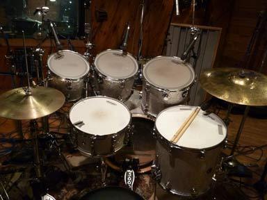 Drums in Recording Studio