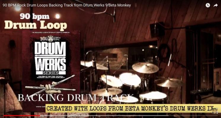 Play-Along Rock Drum Track 90 bpm
