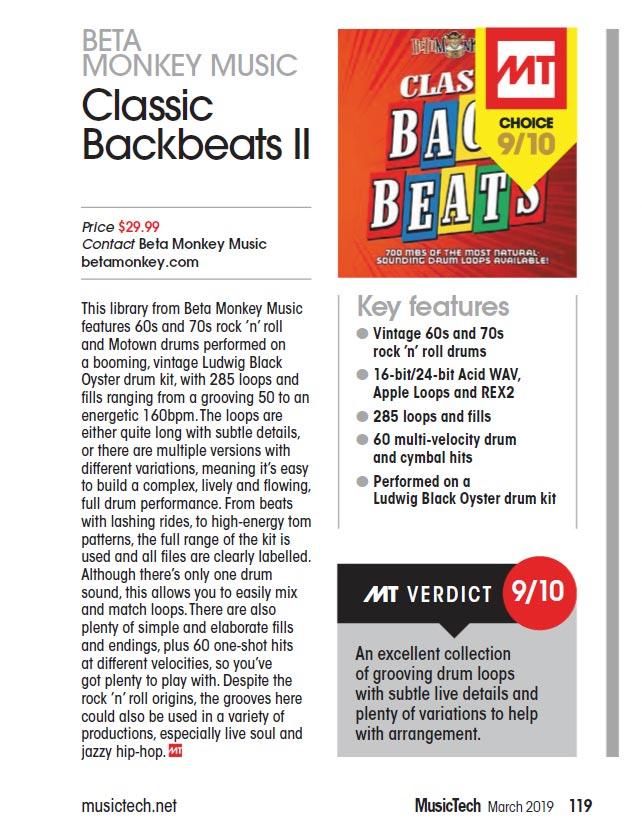 Beta Monkey Music Classic Backbeats II Review March 2019